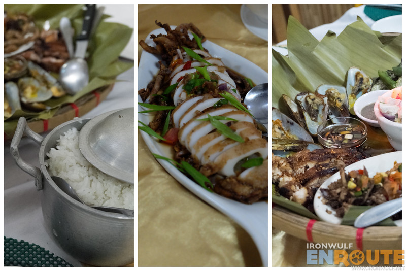 Goodies from Jacko's Kan-anan. The crispy squid (center) is my fave.