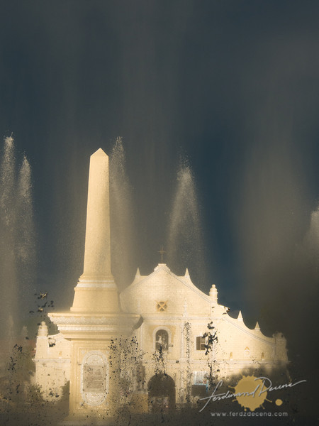 Vigan Cathedral and fountain