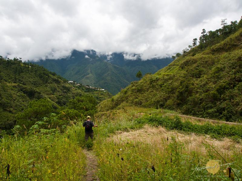 Mountain layers and Ngibat Village on the horizon