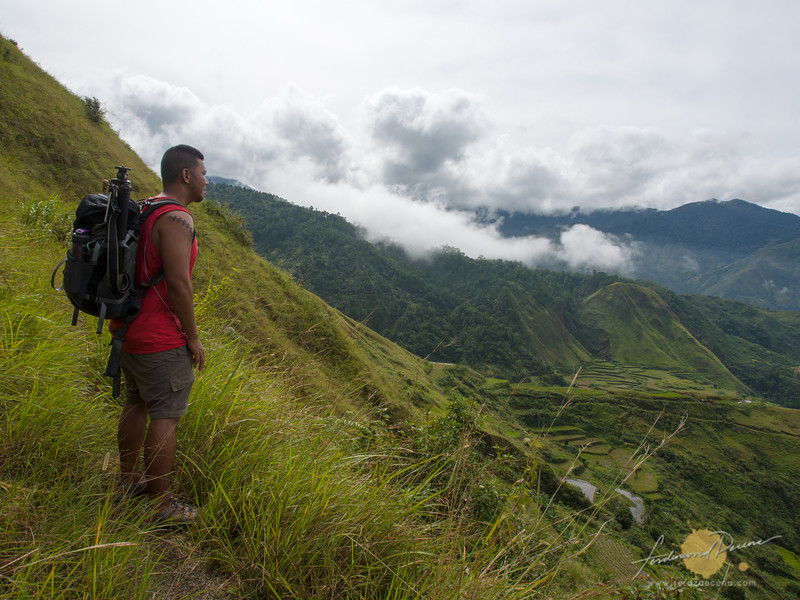 The author on the trail in between Buscalan and Butbut Villages