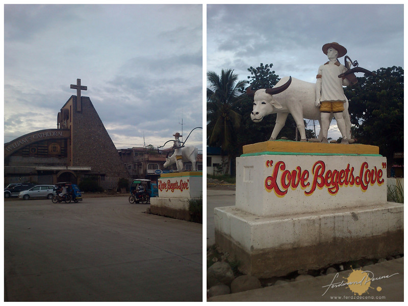The Bulanao Landmarks in Tabuk, the St Williams Cathedral and monument