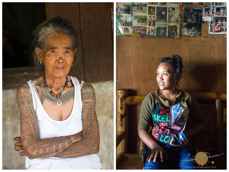Fang-Od (left) and her grand daughter Grace Palicas (right)