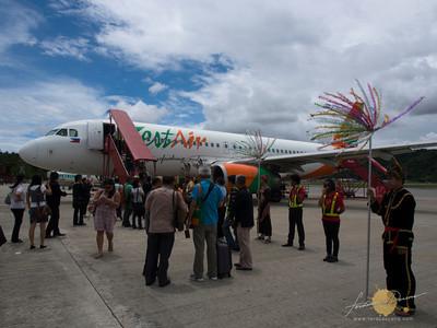 Zest Air plane at Kota Kinabalu Terminal 2