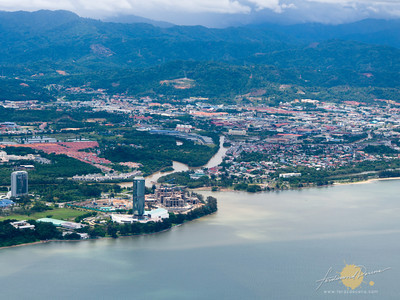 Kota Kinabalu City from the air.