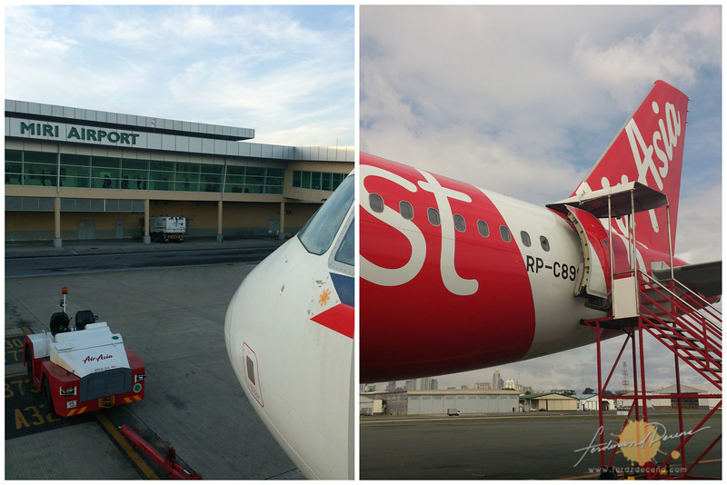 Miri International Airport and AirAsia Zest plane