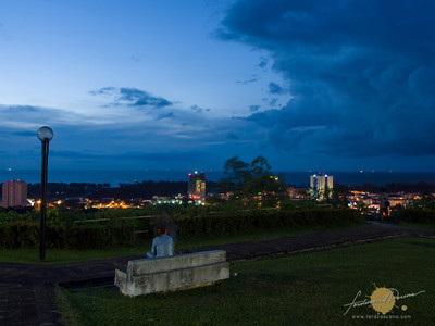 Miri City viewed from Canada Hill
