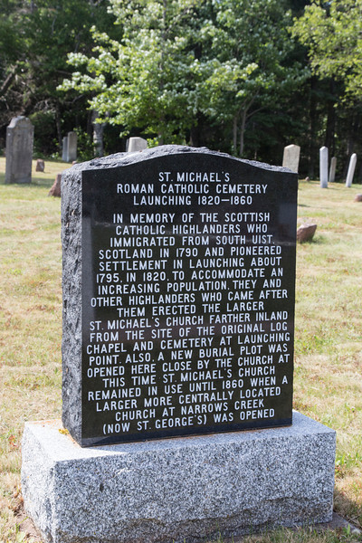 Inscription at St. Michael's Cemetary, Launching, PEI