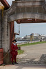 Entry to Fortress of Louisbourg National Historic Site, Louisbourg, Nova Scotia.