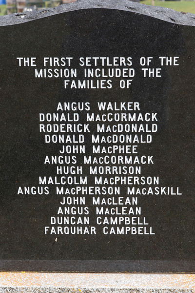 Inscription at St. Michael's Cemetery, Launching, PEI