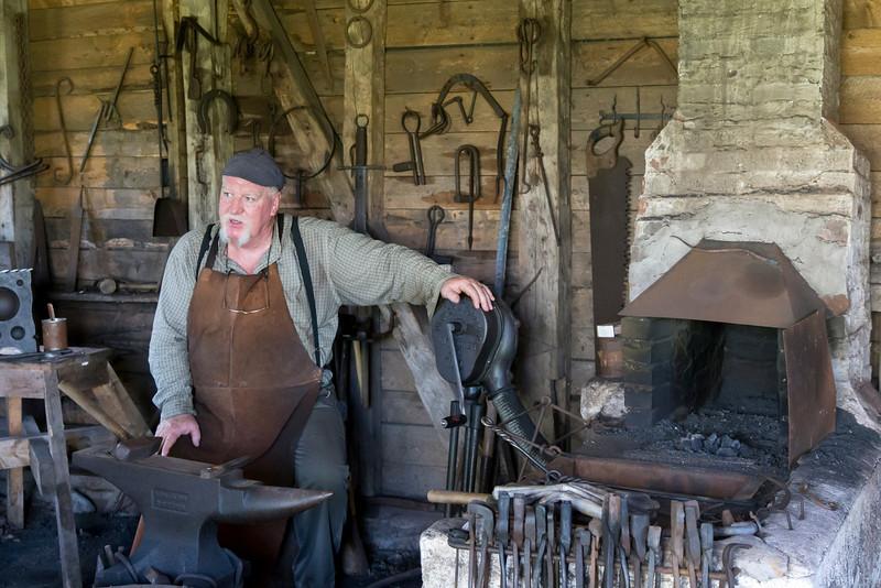 Blacksmith demonstration, Highland Village, Iona, Nova Scotia