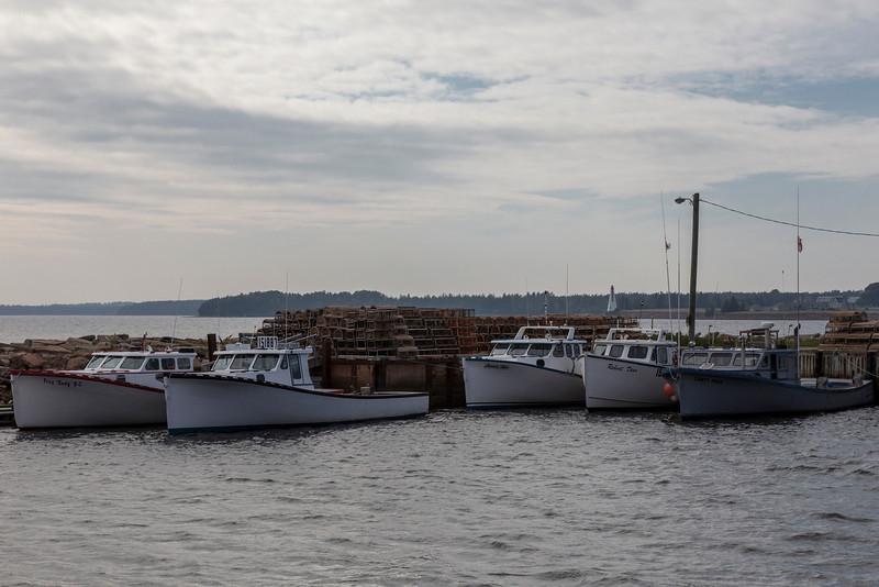 Boughton River lobster boats, near Morrison land.