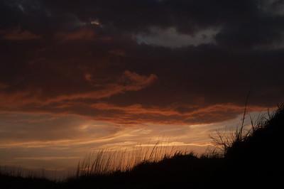 Ocracoke stormy sunset