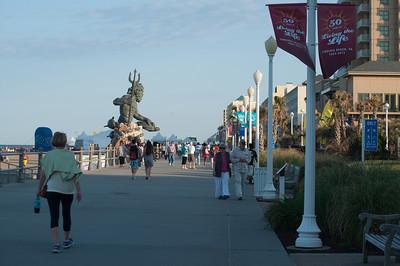 Virginia Beach Boardwalk showing Neptune