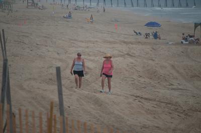 Girls on Beach at Kill Devil Hills, NC