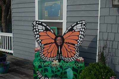 Joan spreading her wings at Duck, NC