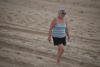 Joan on Beach at Kill Devil Hills, NC