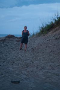 Joan before the Ocracoke storm