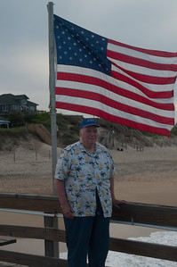 Patriotic Frank on Nags Head, NC pier