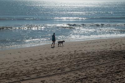 Evening dog walk at Kill Devil Hills