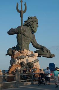 Neptune on Virginia Beach Boardwalk