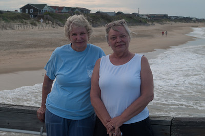 Joan and Caryl on Nags Head, NC pier