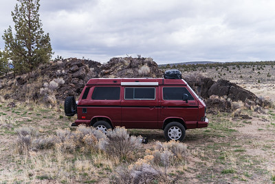 Westfalia Syncro in Oregon Badlands