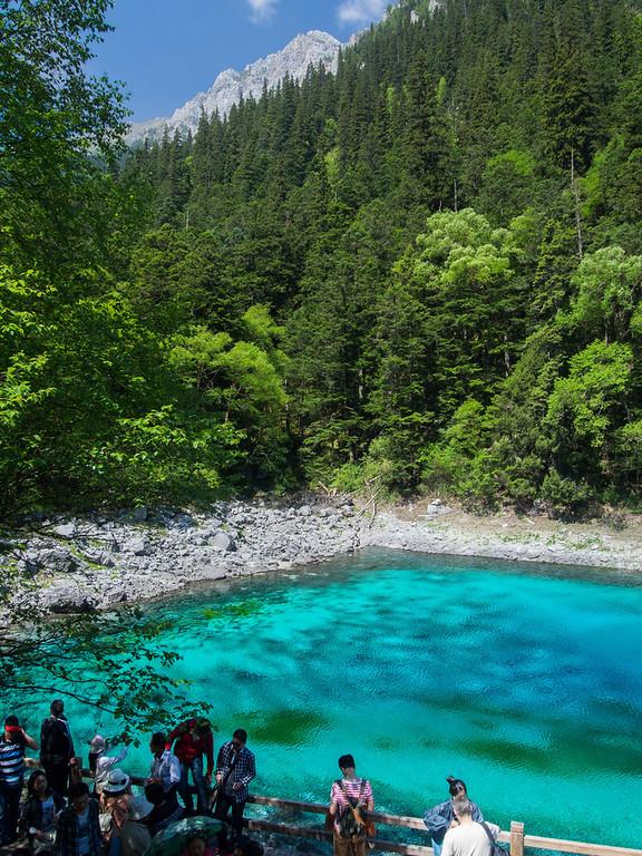 Fivecolor Lake, (五彩池)Jiuzhaigou,