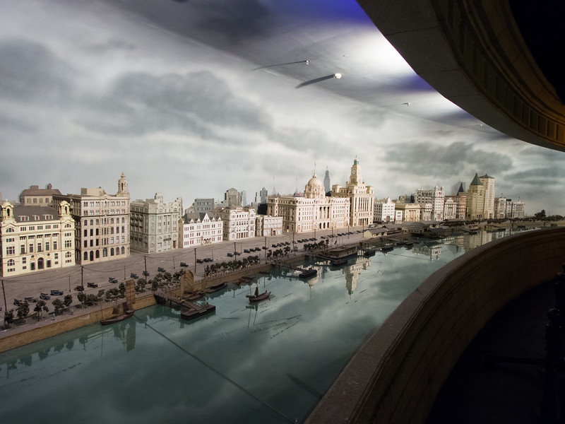 Shanghai History Museum's Bund model in the 30s