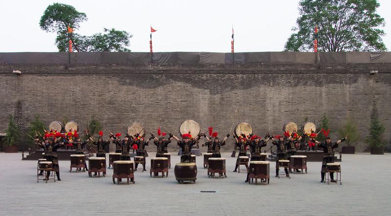 Drummers at Xi'an City Wall