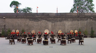 Drummers at Xi'an City Wall