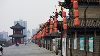 On top of Xi'an City Wall