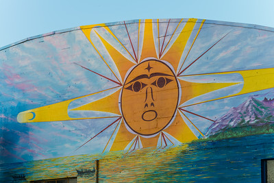Part of a new mural at Percival Landing