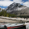 View of Mount Aylmer from the docks at Lake Minnewanka