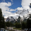 View from the parking lot at Lake Minnewanka
