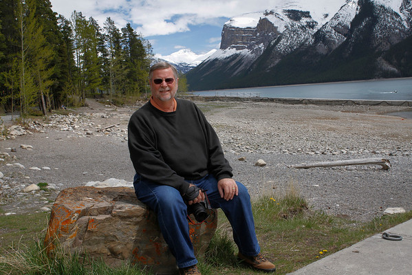 Gary enjoying the scenery around Lake Minnewanka