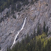 Waterfall scenery along the Lake Minnewanka Loop Drive