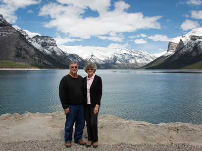 Gary and Becki at Lake Minnewanka
