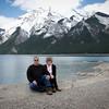 Enjoying Lake Minnewanka scenery