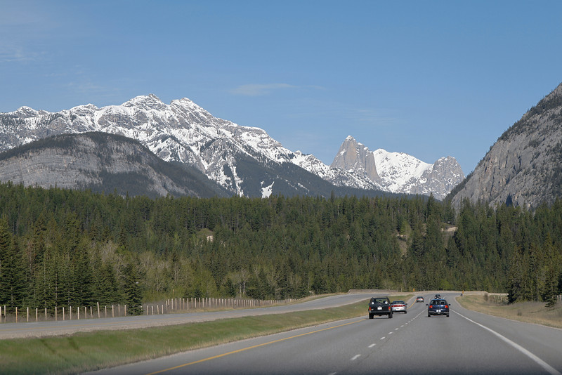 Driving to Banff National Park
