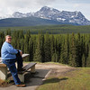 Gary taking in the views at Storm Mountain