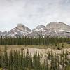 Mountains at Saskatchewan River Crossing