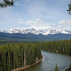 Bend in the Bow River near Storm Mountain