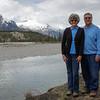 Posing at the Saskatchenwan River