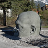 A sculpture -- named Big Head, a translation of the Gaelic Ceann Mór, a variation of the town's name.