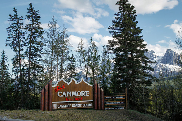 Entering Canmore