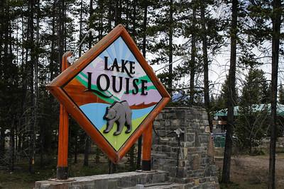Lake Louise Sign at Samson Mall