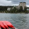 View of the Fairmont Chateau Lake Louise from the Boathouse