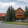 The Post Hotel was constructed of logs brought from Revelstoke and from the headwaters of the Bow River.