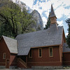 The Yosemite Chapel was listed on the National Register of Historic Places in 1973.  Erected in 1879, it is the oldest structure in Yosemite Valley.