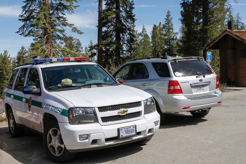 Ranger Car at Sentinel Dome/Taft Point Trailhead